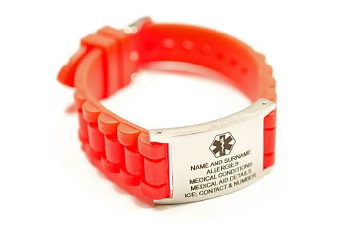 SILICONE WATCH STRAP WITH PLATE