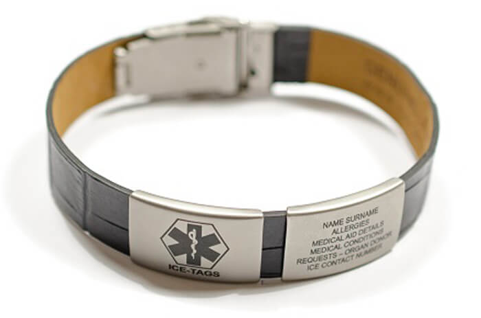 STYLISH LEATHER MEDIBAND