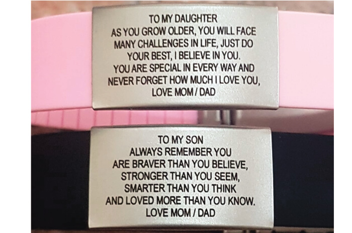 ICE-TAGS TO SON OR DAUGHTER