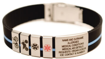 """ICE-TAGS (MEDICAL INFORMATION BANDS) FAR MORE SUPERIOR THAN THE """"ORIGINAL"""""""